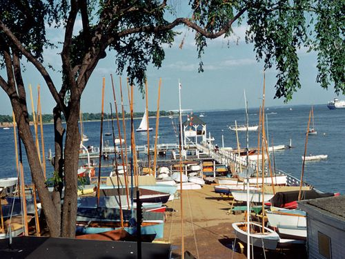 This is a picture of the yard at the Raritan Yacht Club in 1960.